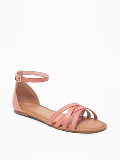 46aa5636a4064 Strappy Ankle-Strap Sandals for Women