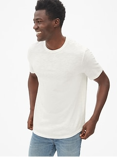 f26df7548d Vintage Slub Jersey Curved-Hem T-Shirt