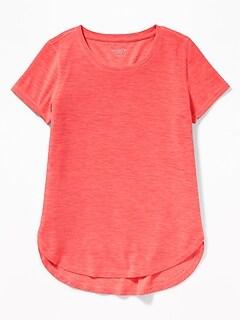 71d6c6b27 Ultra-Soft Breathe ON Built-In Flex Tulip-Hem Tee for Girls