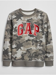 55dd689448c2 Kids Gap Logo Crewneck Pullover Sweatshirt