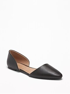 b89001d0e Faux-Leather D'Orsay Flats for Women