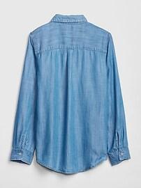 Kids Denim Long Sleeve Shirt
