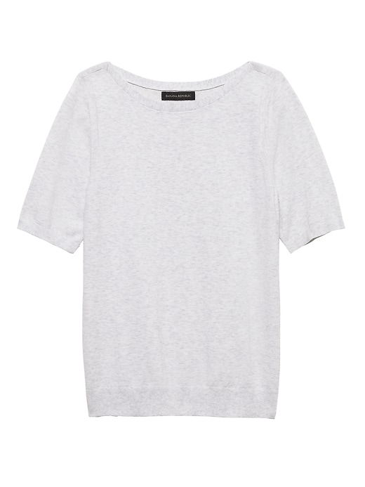 Stretch-Cotton Sweater Top