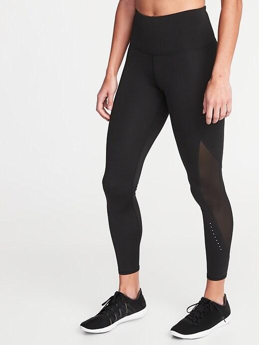 High-Waisted 7/8-Length Run Leggings For Women