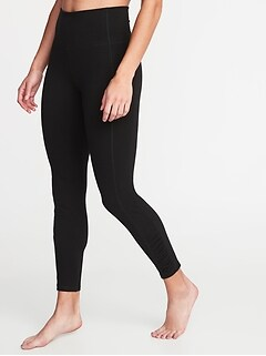 883ed7a71a6d5 High-Rise Side-Ruched 7/8-Length Balance Yoga Leggings for Women