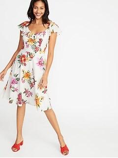 eababdead6e Fit   Flare Ruffle-Trim Cami Dress for Women
