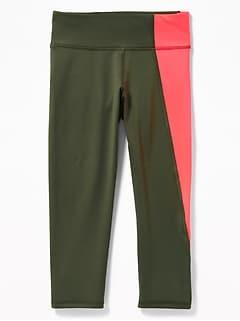 06a5fd555a Go-Dry Asymmetrical Side-Panel 7/8-Length Leggings for Girls