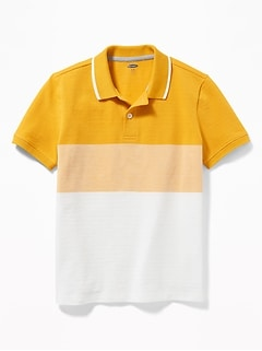 1092fa85d Built-In Flex Color-Blocked Pique Polo for Boys