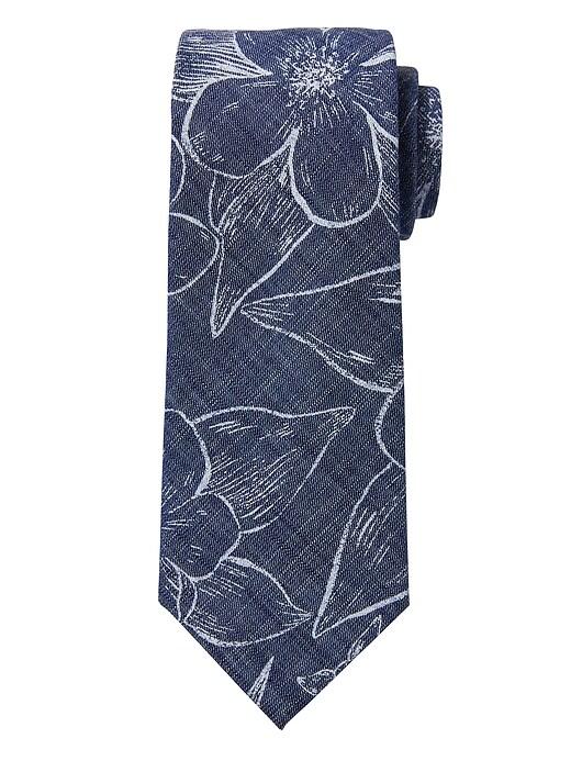 Cravate en soie NanotexMD en cambrai à fleurs tropicales