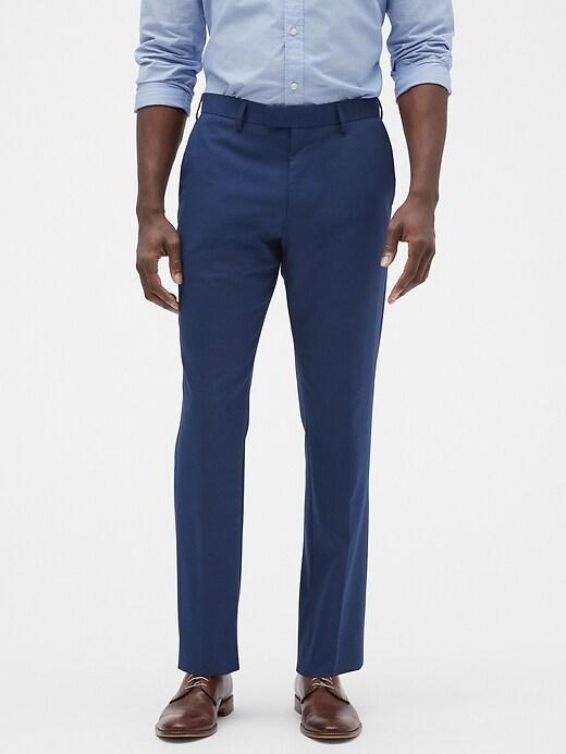 Slim-Fit Stretch Blue Trouser