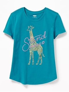 fcf13509 Graphic Crew-Neck Tee for Girls
