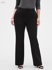 Machine Washable Logan Black Ponte Suit Trouser