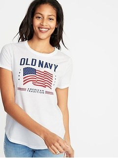 91b77caed70743 EveryWear 2019 Flag Graphic Tee for Women