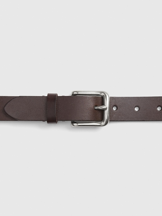 Khaki Leather Belt