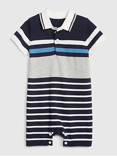 694dae9f Baby Polo Sweater Shorty One-Piece