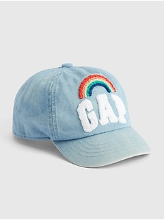 b0600b81c8208 Toddler Rainbow Denim Baseball Hat