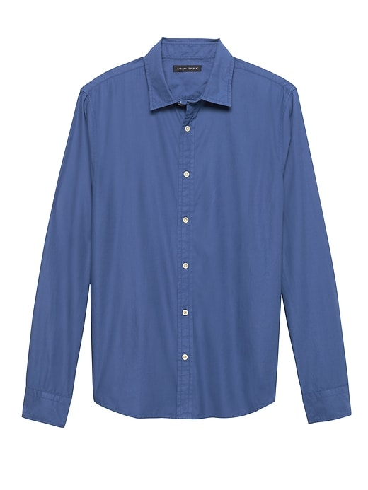 Untucked Slim-Fit Cotton Twill Shirt