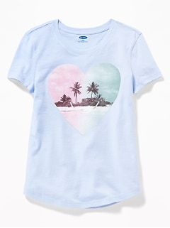 c5544359f9ff Graphic Crew-Neck Tee for Girls