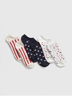 d1f168544d0 Kids Print No-Show Socks (3-Pack)