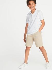 Built-In Flex Uniform Pique Polo 3-Pack for Boys