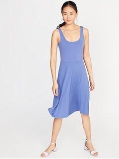 e62446e0fa Sleeveless Jersey Fit   Flare Dress for Women
