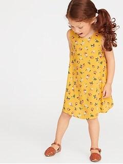 394c2671a5c1 Printed Sleeveless Swing Dress for Toddler Girls