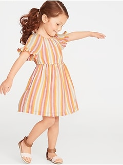 8bb9b66e803 Striped Ruffle-Trim Dress for Toddler Girls