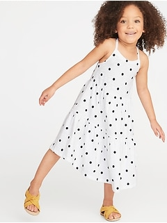 8b27f8804d Tiered Slub-Knit Swing Dress for Toddler Girls