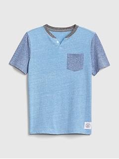 fe1a88dca921ea Kids Henley Short Sleeve T-Shirt