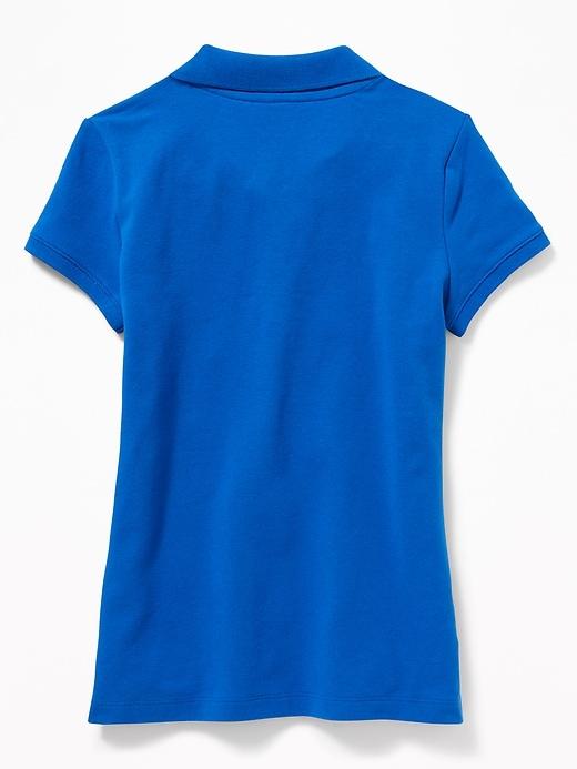 Uniform Short-Sleeve Pique Polo for Girls