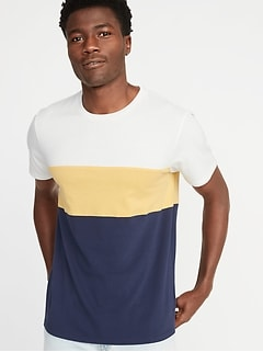 0c84636e02a7 Soft-Washed Color-Block Tee for Men