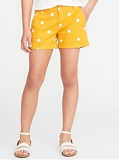 3bb9c3076b21 Twill Chino Shorts for Girls