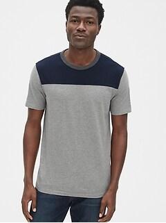 1f649a1f8a668 Vintage Slub Jersey Colorblock T-Shirt