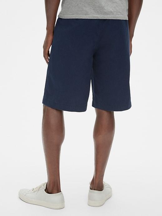 Short kaki à jambe large, 30cm