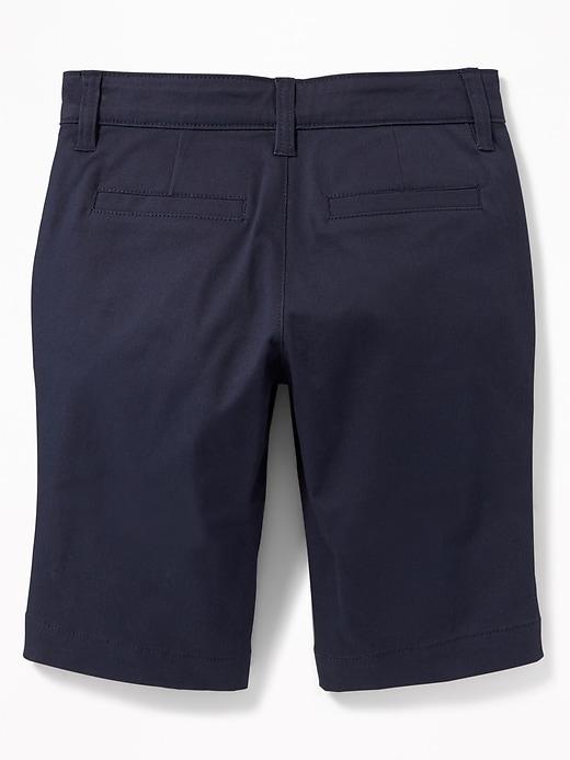 Uniform Skinny Twill Bermudas for Girls