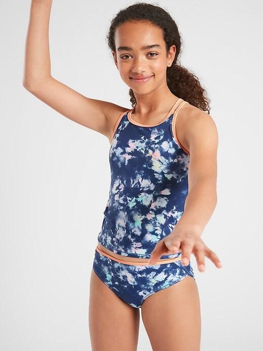Athleta Girl Tide Dye Tankini Top