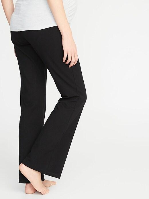 Maternity Rollover-Waist Boot-Cut Yoga Pants
