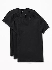 Paquet de trois t-shirts à col rond pour homme