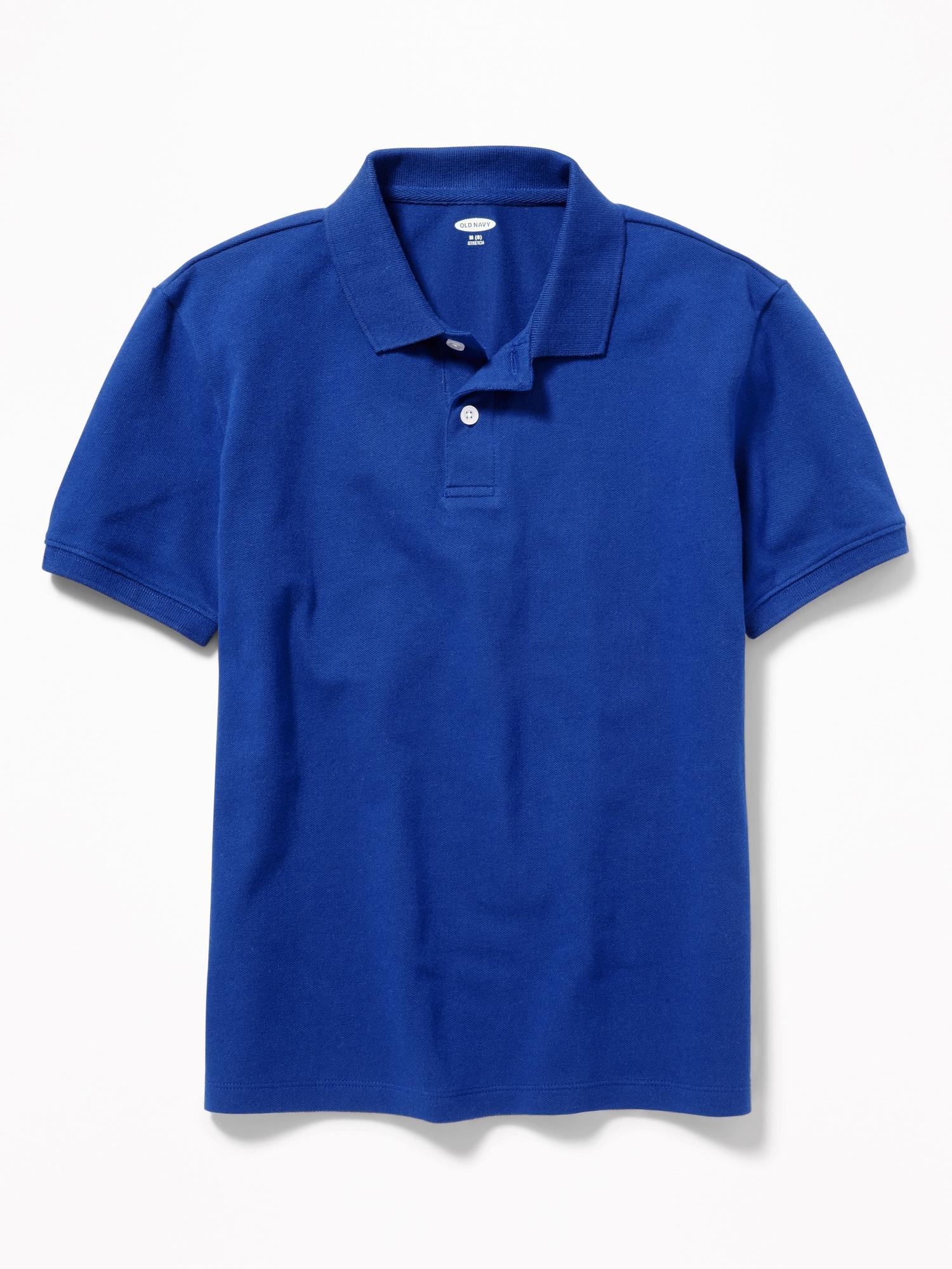 School Uniform Built-in Flex Pique Polo for Boys!
