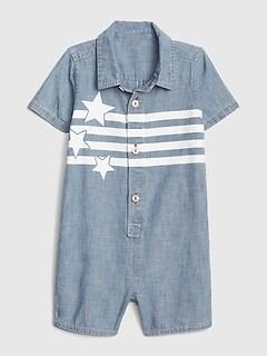 b11b861afa7a9 Baby Star Denim Shorty One-Piece