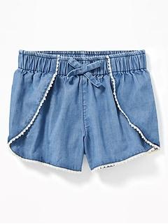 c27515048e74 Chambray Tulip-Hem Shorts for Toddler Girls