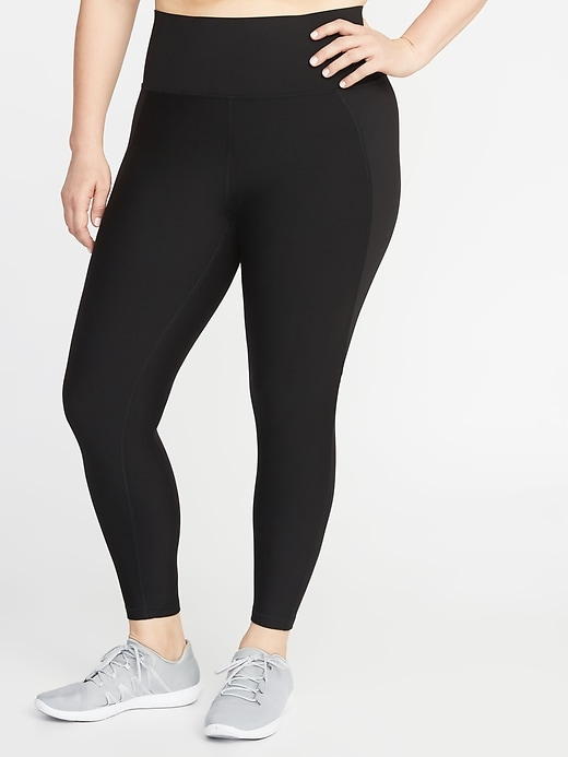 High-Waisted Elevate Built-In Sculpt Plus-Size 7/8-Length Leggings