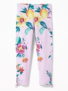 4b8818a7b3075 Cropped Side-Tie Leggings for Girls