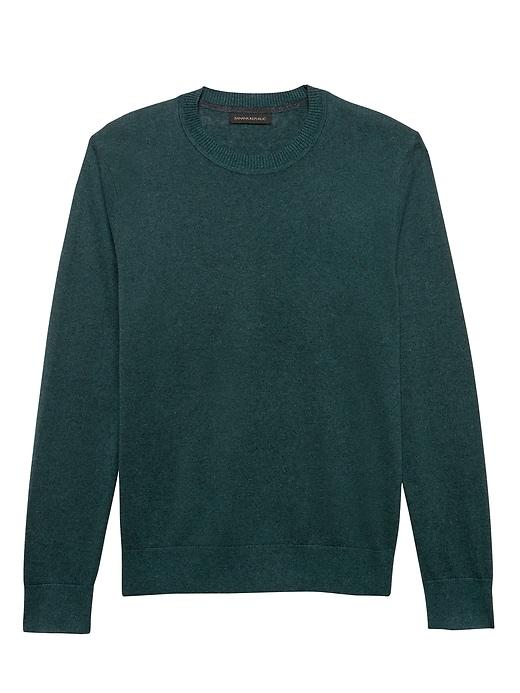 Silk-Linen Crew-Neck Sweater