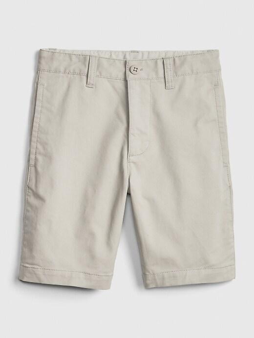 Kids Uniform Khaki Shorts with Gap Shield