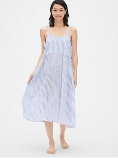 93d028bf8eb Dreamwell Crinkle Stripe Tiered Midi Dress
