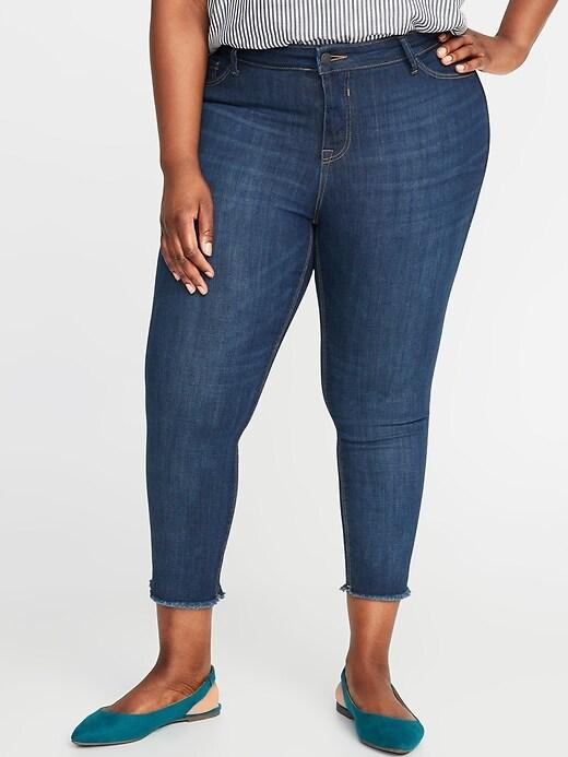 High-Waisted Secret-Slim Pockets Plus-Size Released-Hem Cropped Rockstar Jeans
