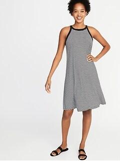 10f9415340ba High-Neck Jersey Swing Dress for Women