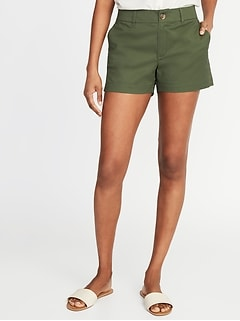 fd81612c634c3 Mid-Rise Twill Everyday Shorts for Women - 3 1/2-inch inseam