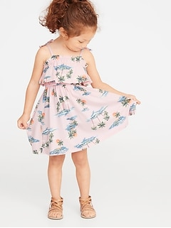e6078d95fdee Printed Jersey Ruffled Fit & Flare Dress for Toddler Girls